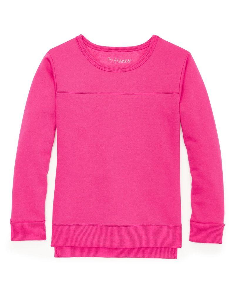 Hanes Girls' High-Low Sweatshirt youth Hanes