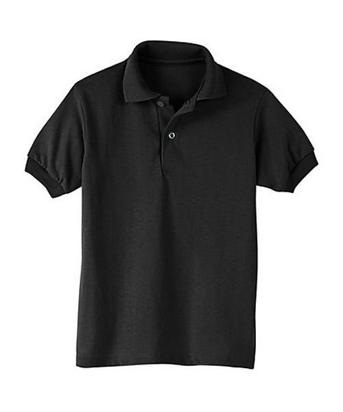 Hanes Kids' Cotton-Blend EcoSmart® Jersey Polo youth Hanes