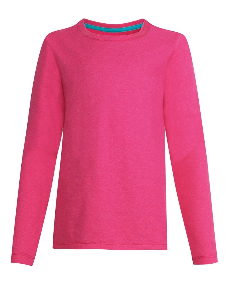 Hanes Girls' Long-Sleeve Crewneck T-Shirt youth Hanes
