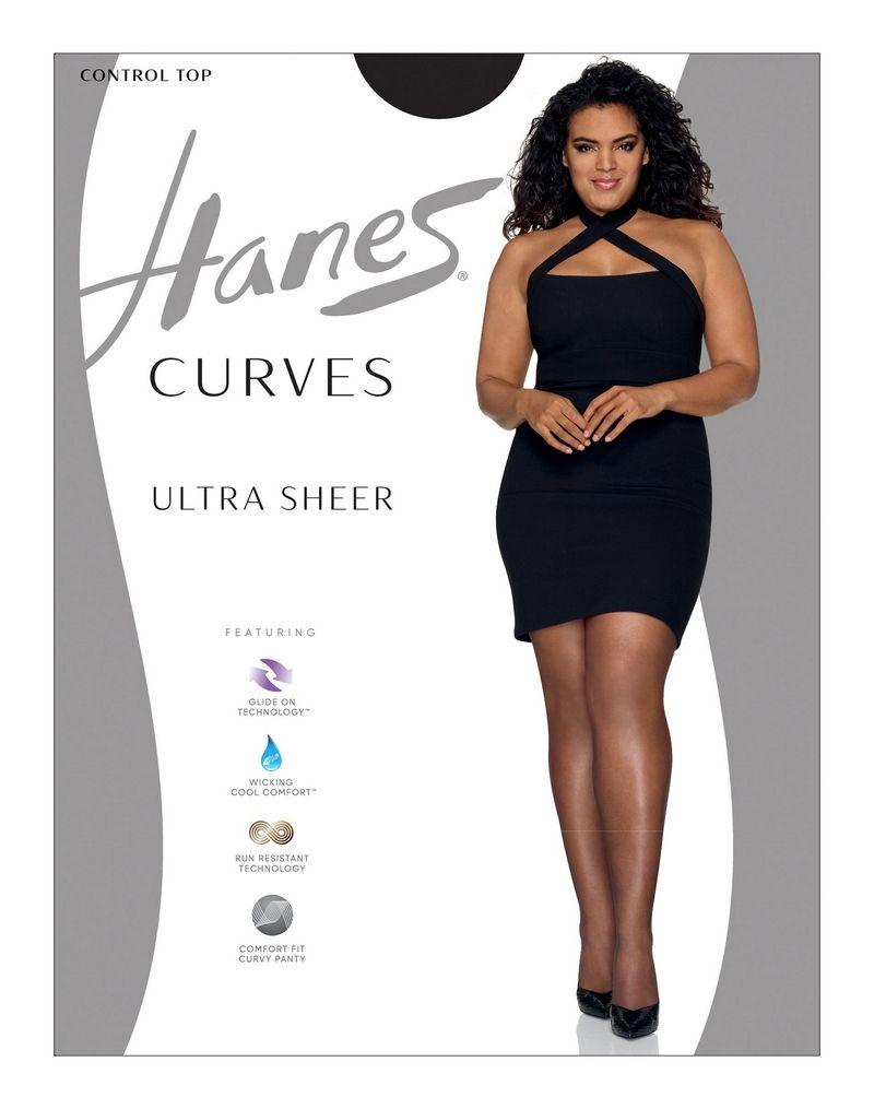 Hanes Curves Ultra Sheer Control Top Legwear women Hanes