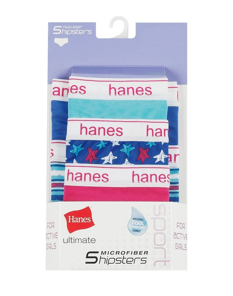 Hanes Ultimate® Girls' Sport Microfiber Hipsters 5-Pack youth Hanes