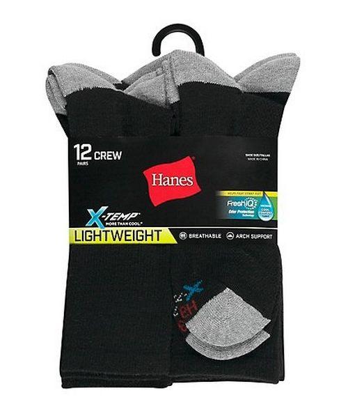 Hanes Men's FreshIQ™ X-Temp® Crew Socks 12-Pack men Hanes