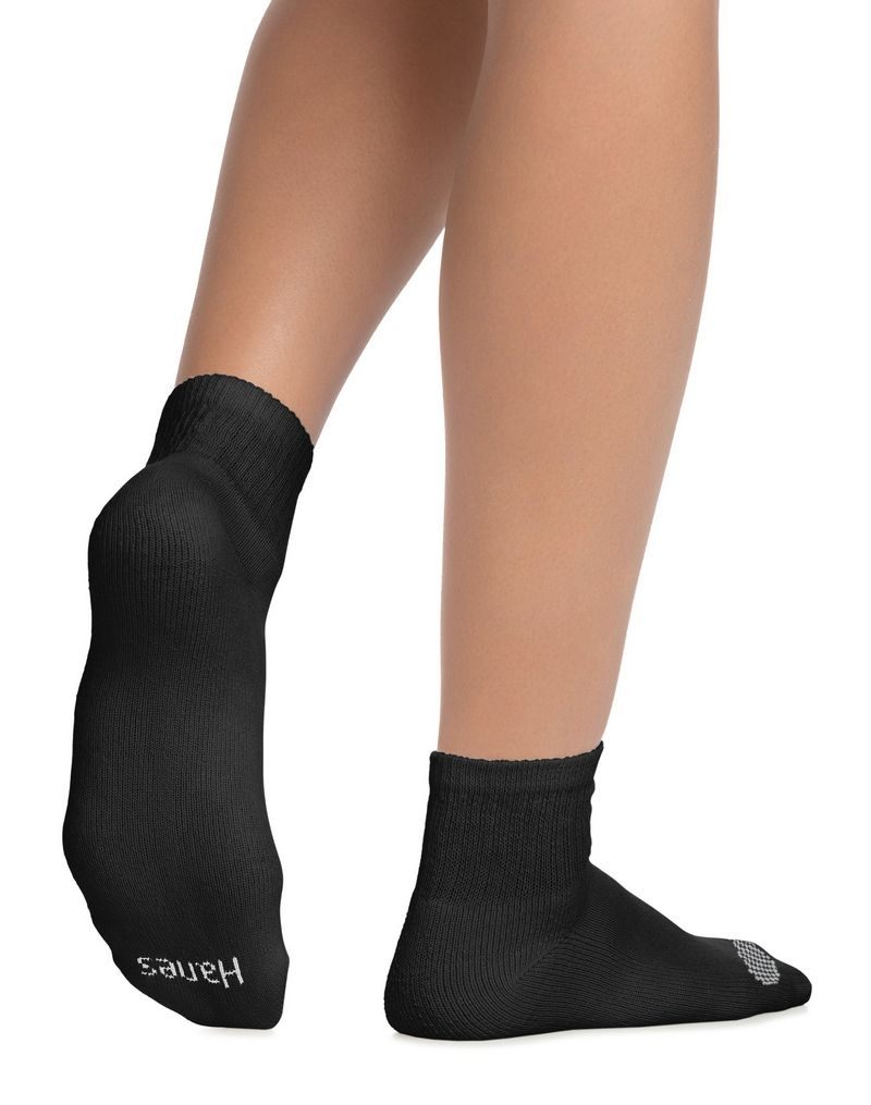 Hanes Women's Cool Comfort® Ankle Socks Extended Sizes 8-12, 6-Pack women Hanes