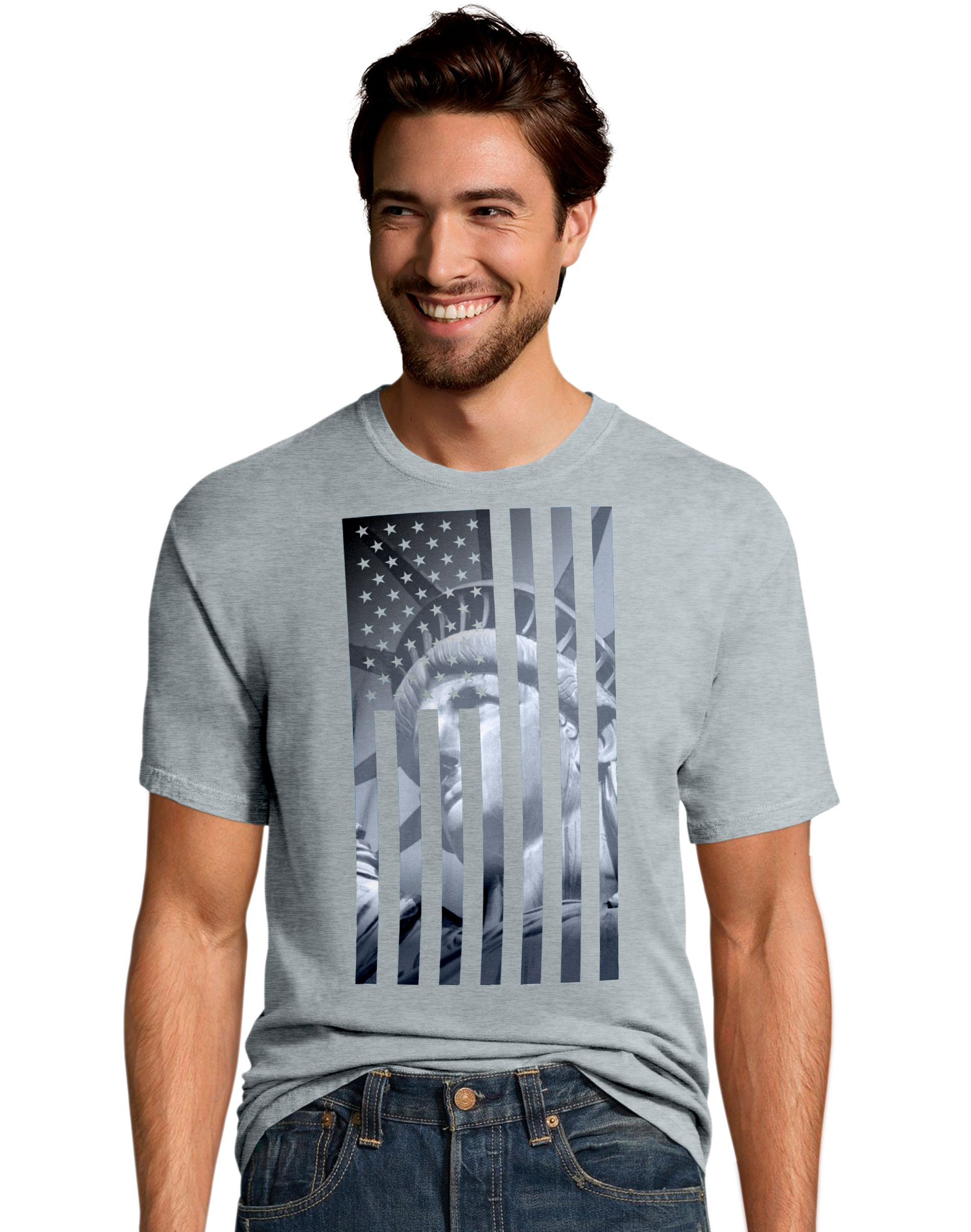 Men's Liberty Flag Graphic Tee men Hanes