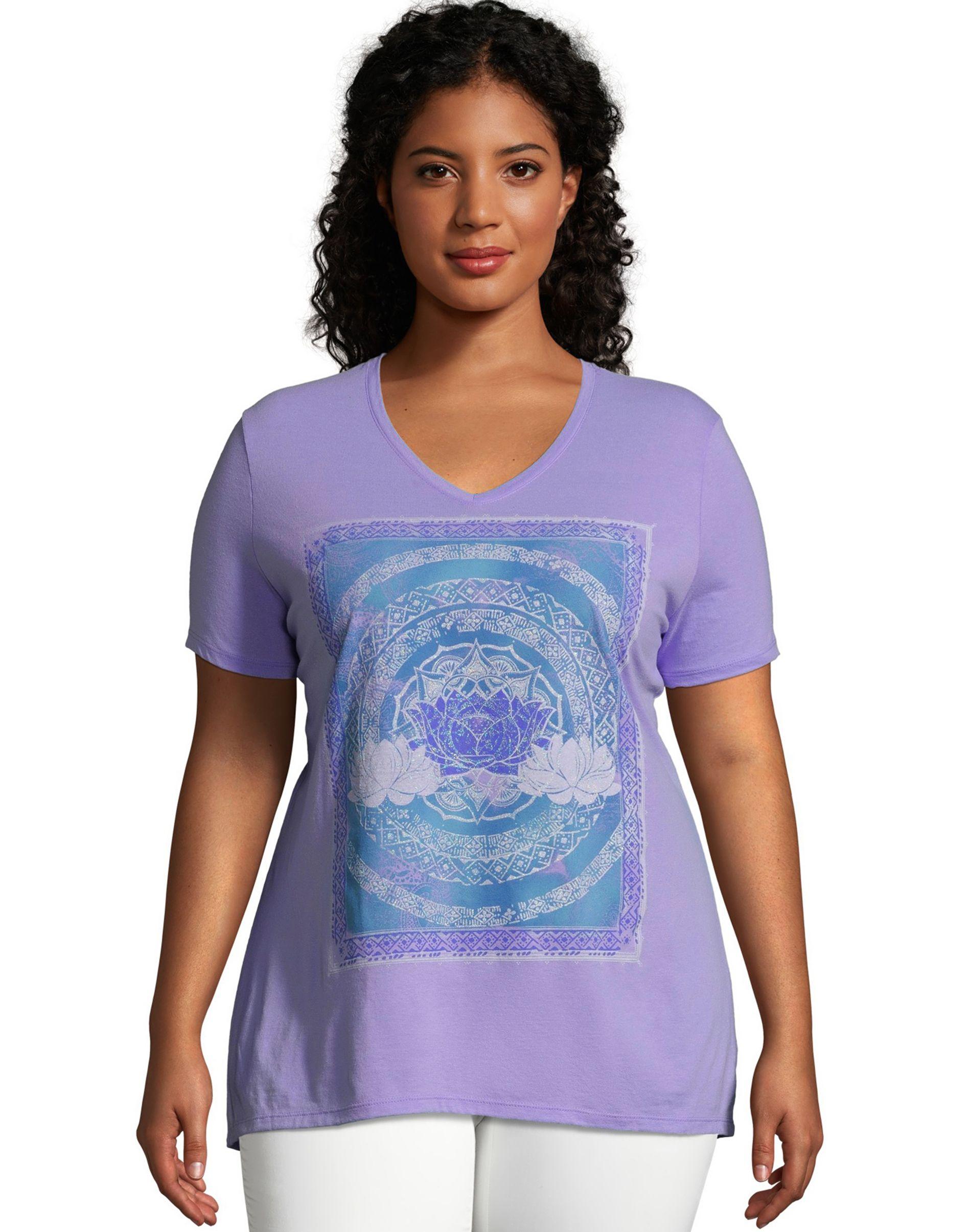 JMS Lotus Love Short Sleeve Graphic Tee women Just My Size